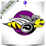 Эмблема Dodge rumble bee