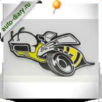Эмблема Dodge super bee